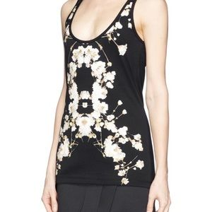 Givenchy black floral tank top